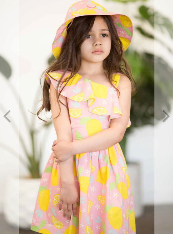 Lemonade tropic dress pink