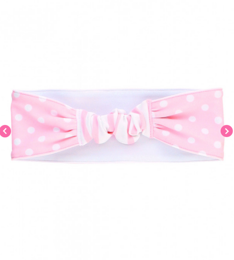Pink Polka Dot Swimwear Headband