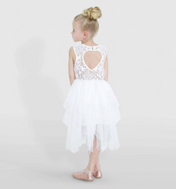 HEART BACK TARA DRESS - IVORY