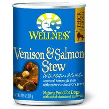 Load image into Gallery viewer, Wellness Grain Free Natural Venison & Salmon Stew with Potato and Carrots Wet Canned Dog Food