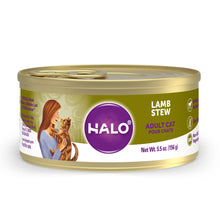 Load image into Gallery viewer, Halo Holistic Grain Free Adult Lamb Stew Canned Cat Food