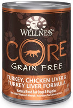 Load image into Gallery viewer, Wellness CORE Grain Free Natural Turkey, Chicken and Turkey Liver Recipe Wet Canned Dog Food