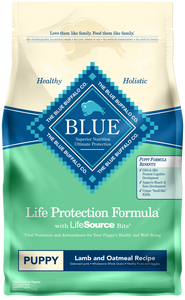 Blue Buffalo Life Protection Natural Lamb & Oatmeal Recipe Puppy Dry Dog Food