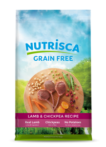 NUTRISCA Grain Free Lamb and Chickpea Recipe Dry Dog Food