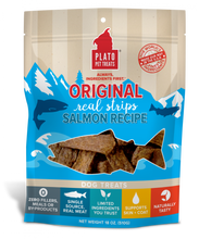 Load image into Gallery viewer, Plato All Natural Salmon Strips Dog Treats