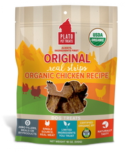 Load image into Gallery viewer, Plato Organic Chicken Strips Dog Treats