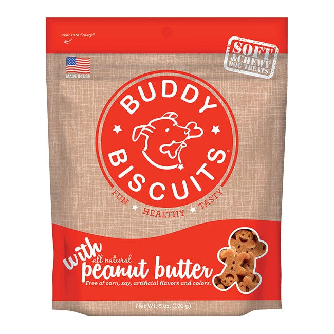 Cloud Star Buddy Biscuits Soft and Chewy Peanut Butter Dog Treats