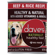 Load image into Gallery viewer, Dave's Naturally Healthy Beef And Rice Canned Dog Food
