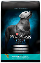 Load image into Gallery viewer, Purina Pro Plan Focus Adult Large Breed Weight Management Formula Dry Dog Food