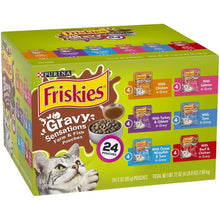 Load image into Gallery viewer, Friskies Gravy Sensations Variety Pack Cat Pouches Wet Cat Food