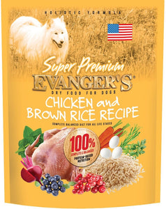 Evangers Super Premium Chicken with Brown Rice Dry Dog Food
