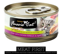 Load image into Gallery viewer, Fussie Cat Premium Tuna with Chicken Formula in Aspic Canned Food