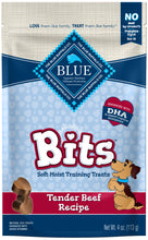 Load image into Gallery viewer, Blue Buffalo Bits Tender Beef Natural Soft Moist Training Dog Treats
