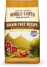 Load image into Gallery viewer, Whole Earth Farms Grain Free Recipe with Chicken and Turkey Dry Dog Food