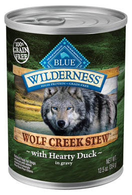 Blue Buffalo Wilderness Wolf Creek Stew Hearty Duck Stew Canned Dog Food