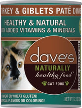 Load image into Gallery viewer, Dave's Naturally Healthy Turkey and Giblets Pate Dinner Canned Cat Food