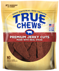 True Chews Premium Jerky Cuts with Real Steak Dog Treats