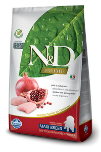 Farmina N&D Natural and Delicious Grain Free Maxi Puppy Chicken & Pomegranate Dry Dog Food