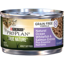 Load image into Gallery viewer, Purina Pro Plan True Nature Grain Free Adult Natural Ocean Whitefish & Salmon Entree Canned Cat Food