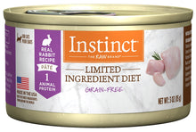 Load image into Gallery viewer, Instinct Grain Free LID Rabbit Canned Cat Food