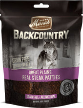 Load image into Gallery viewer, Merrick Backcountry Great Plains Grain Free Real Steak Patties Dog Treats