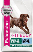 Load image into Gallery viewer, Eukanuba Fit Body Weight Control Large Breed Dry Dog Food
