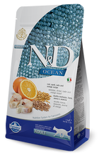 Load image into Gallery viewer, Farmina Ocean N&D Natural & Delicious Adult Cod, Spelt, Oats & Orange Dry Cat Food