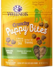 Load image into Gallery viewer, Wellness Natural Grain Free Crunchy Puppy Bites Chicken and Carrots Recipe Dog Treats