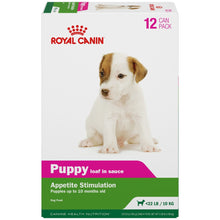 Load image into Gallery viewer, Royal Canin Puppy Loaf in Sauce Recipe Canned Dog Food