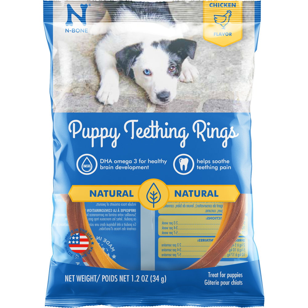 N-Bone Puppy Teething Rings Chicken Flavor Dog Treats