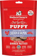 Load image into Gallery viewer, Stella & Chewy's Perfectly Puppy Freeze Dried Raw Chicken and Salmon Dinner Patties Grain Free Dog Food