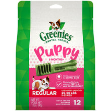 Load image into Gallery viewer, Greenies 6+ Months Puppy Regular Size Dental Dog Treats