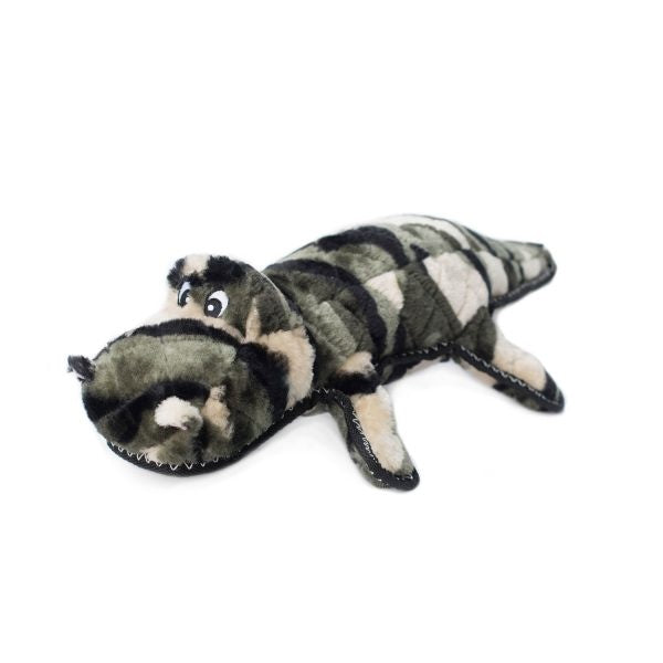 ZippyPaws Z-Stitch Camron the Camo Gator Plush Dog Toy