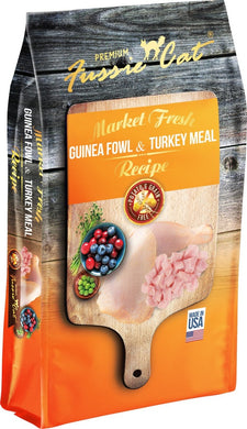 Fussie Cat Market Fresh Grain Free Guinea Fowl & Turkey Meal Recipe Dry Cat Food