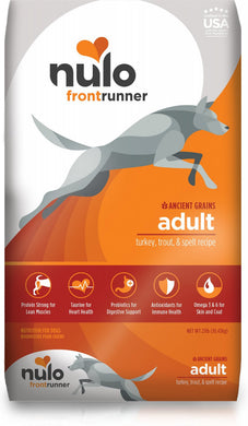 Nulo Frontrunner Turkey, Trout & Spelt Adult Dry Dog Food