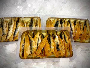 Hot Smoked Anchovy Fillets (per pack)