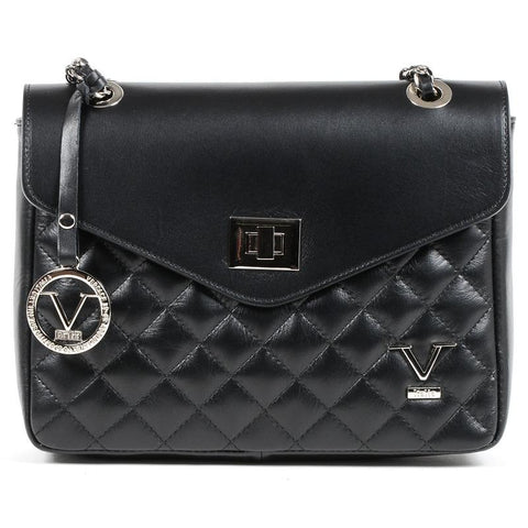 V 1969 ITALIA: Black crossbody bag with padded effect - www.choubrand.com