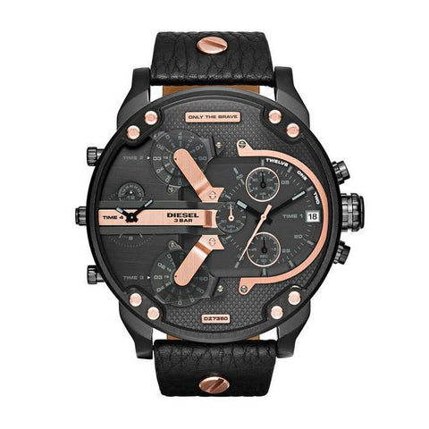 DIESEL: DZ7350 men's watch in black and rose gold - www.choubrand.com