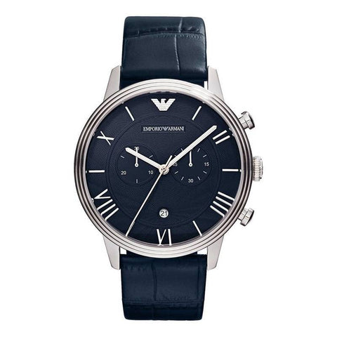 EMPORIO ARMANI: AR1652 men's watch in blue and silver