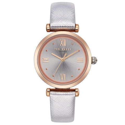 TED BAKER: TE50273001 ava women's watch in silver and rose gold