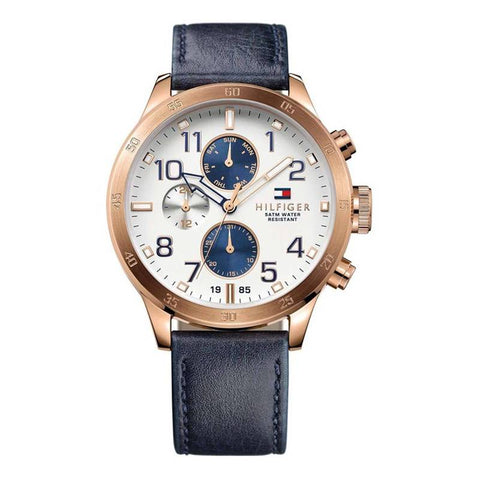 TOMMY HILFIGER: Men's watch 1791139 in navy blue - www.choubrand.com