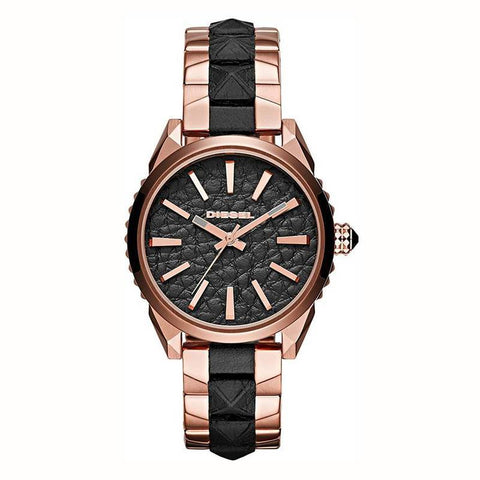 DIESEL: Women's watch DZ5473 rose gold and black - www.choubrand.com