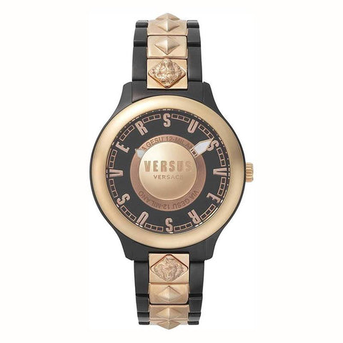 VERSUS VERSACE: VSP410718 watch for her in black and gold - www.choubrand.com