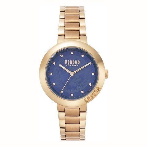 VERSUS VERSACE: Women's watch VSPLJ0819 in gold and blue - www.choubrand.com