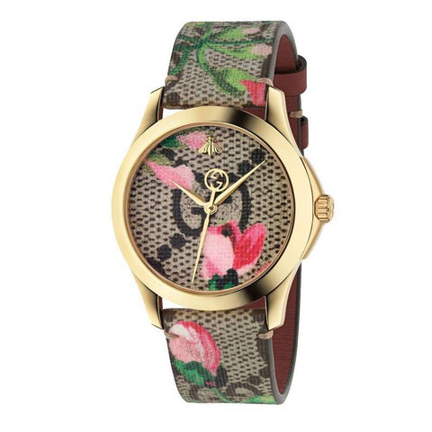 GUCCI: Multicolor Women's watch G-Timeless Pink Blooms Print YA1264038 - www.choubrand.com