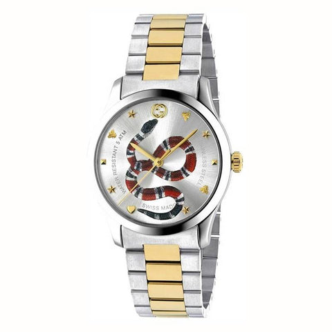 GUCCI: Unisex watch G-Timeless YA1264075 in silver and gold - www.choubrand.com