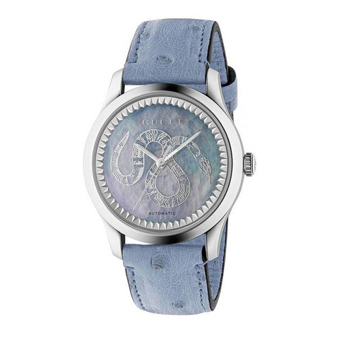 GUCCI: Women's watch YA1264113 in light blue - www.choubrand.com