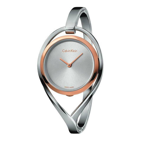 CALVIN KLEIN: Women's watch K6L2MB16 in silver/rose gold - www.choubrand.com