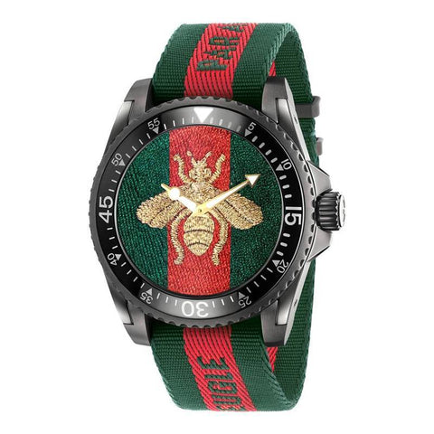 GUCCI: Men's watch Dive YA136216 in red and green - www.choubrand.com