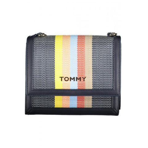 TOMMY HILFIGER: Bag with colorful stripes - www.choubrand.com